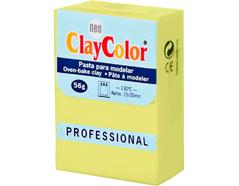 2118 Pasta polimerica Basicos amarillo limon ClayColor