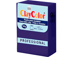 2121 Pasta polimerica Basicos purpura ClayColor