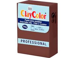 2123 Pasta polimerica Basicos marron ClayColor