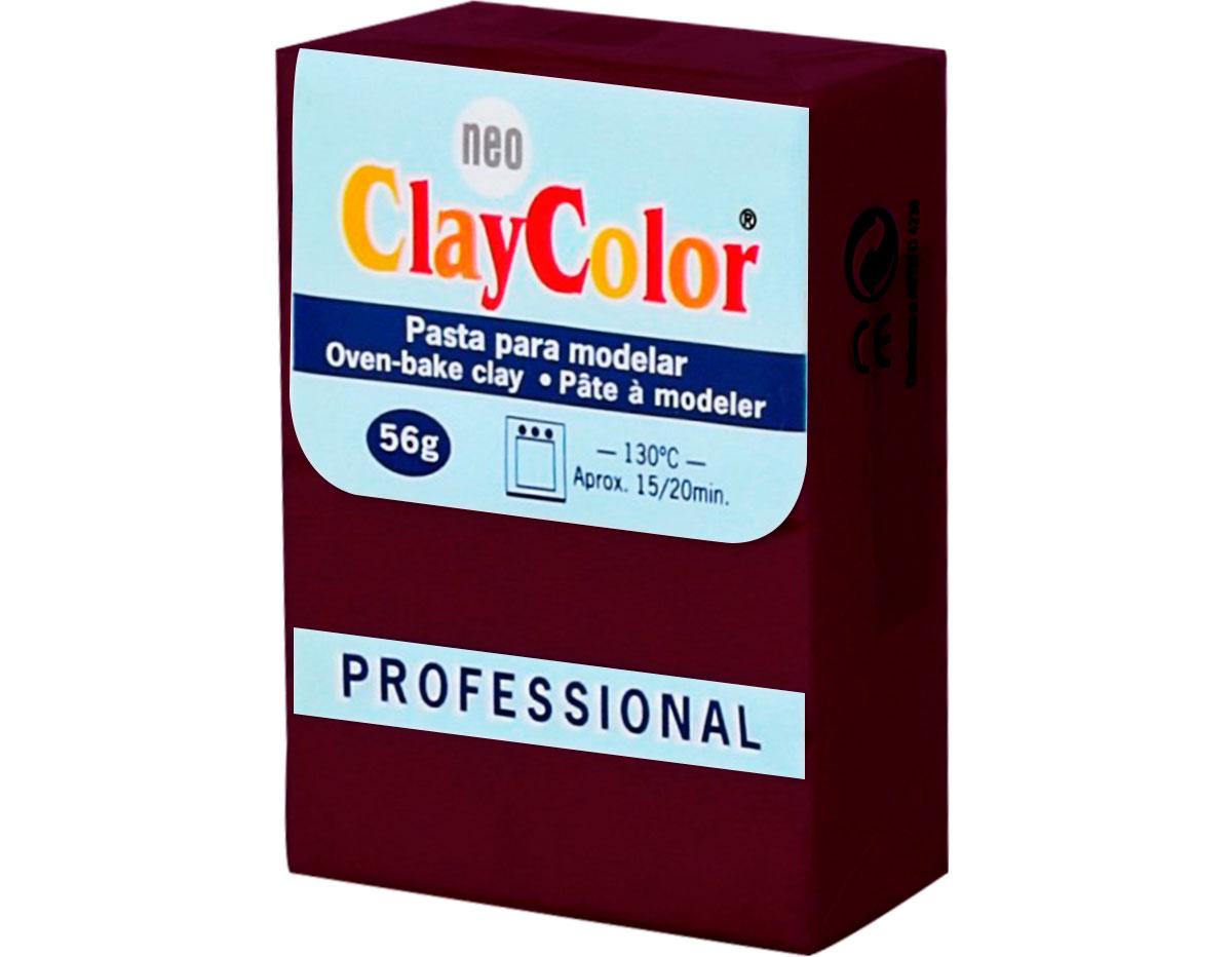 2129 Pasta polimerica Basicos burdeos ClayColor