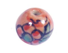 213508 Z213508 Cuenta ceramica bola esmaltada naranja Innspiro