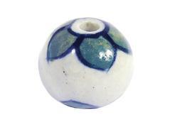 Z213562 213562 Cuenta ceramica bola esmaltada hojas verdes Innspiro