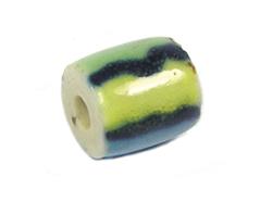 Z213574 213574 Cuenta ceramica cilindro esmaltada colores Innspiro