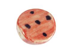 Z213657 213657 Cuenta ceramica disco esmaltada rosa con puntos negros Innspiro