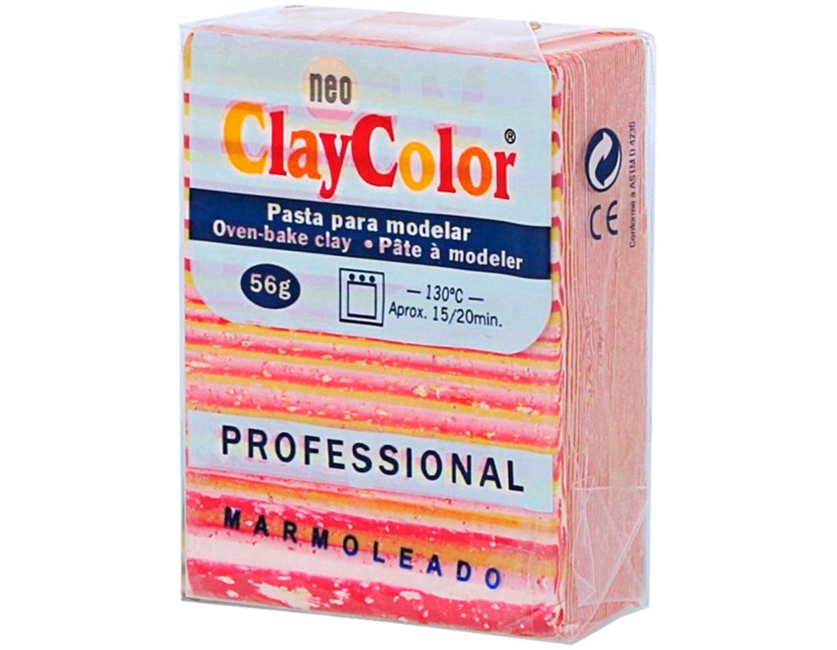 2145 Pasta polimerica Marmoleado rojo oscuro ClayColor