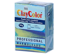 2146 Pasta polimerica Marmoleado azul marino ClayColor