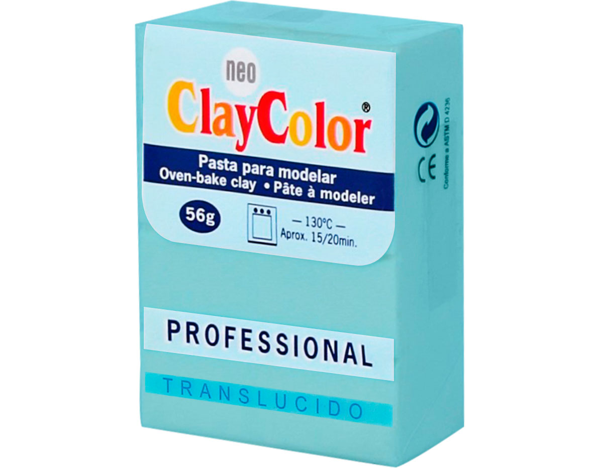 2151 Pasta polimerica Translucido verde agua ClayColor