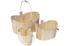 21566 Set de 3 cestas madera de balsa Innspiro