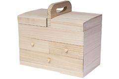 21570 Costurero madera balsa 3 cajones Innspiro