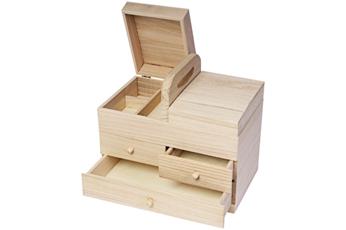 21570 Costurero madera balsa 3 cajones Innspiro - Ítem1