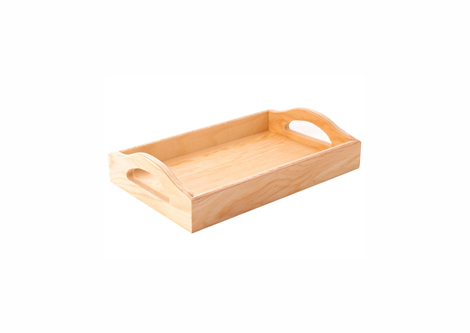 Bandeja madera de pino rectangular manualidades accesorios for Bandejas de madera