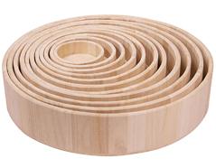 21600 Set de 11 bandejas madera de balsa redondas Innspiro