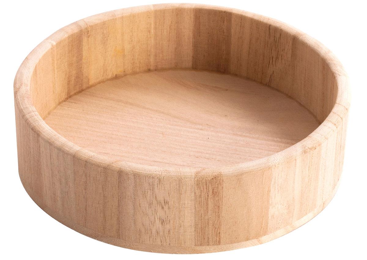 21607 21609 Bandeja madera de balsa redonda mediana Innspiro