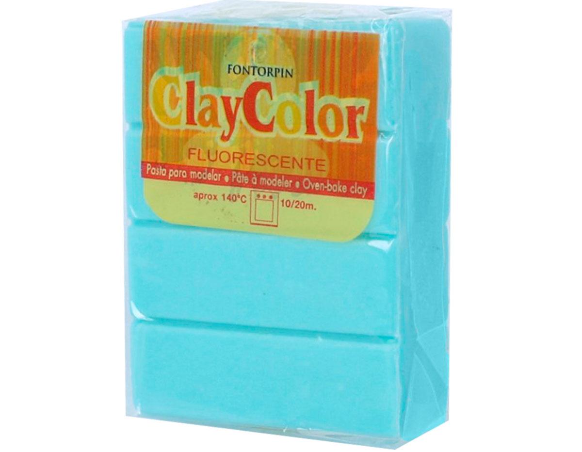 2161 Pasta polimerica Fluorescente aguamarina ClayColor
