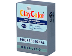 2165 Pasta polimerica Metalicos plata vieja ClayColor