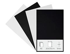 21790 Set 4 laminas goma eva blanco y negro 20x30cm 1mm Thou