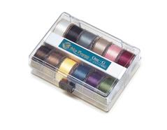 221001 Set hilos nilon ONE-G 12 colores surtidos en rollos 46m Toho