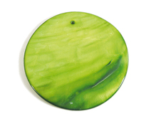 22346 Colgante concha de madreperla disco brillante verde Innspiro