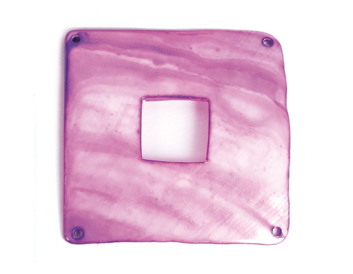 22361 Z22361 Colgante concha de madreperla hebilla brillante purpura Innspiro