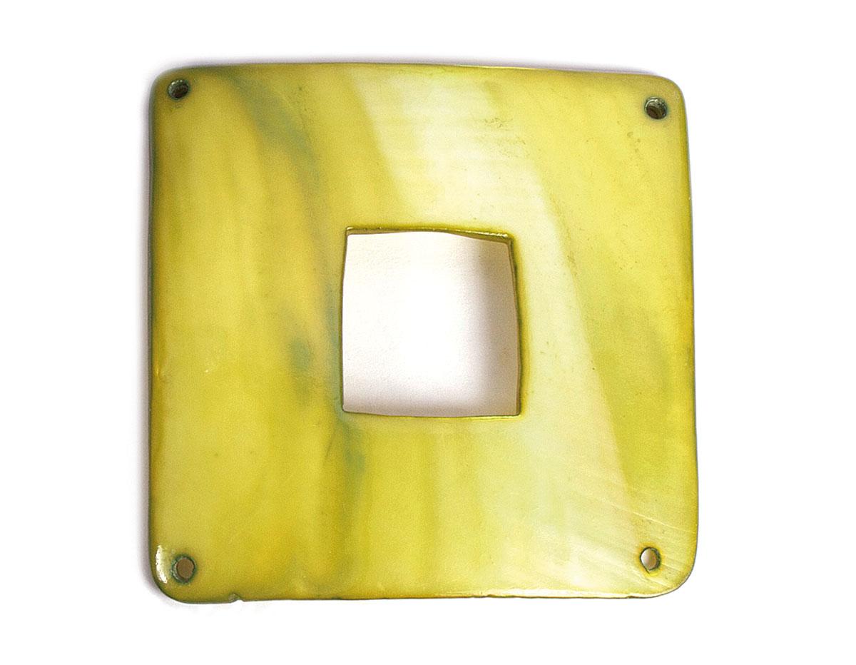 22366 Z22366 Colgante concha de madreperla hebilla brillante verde Innspiro