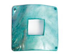 Z22367 22367 Colgante concha de madreperla hebilla brillante turquesa Innspiro