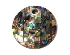 Z23116 Z23115 Z23114 23116 23115 23114 Colgante concha de madreperla disco mosaico negro verde azulado Innspiro - Ítem