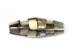 Z23210 23210 Z23209 23209 Z23208 23208 Cuenta concha de madreperla barril mosaico gris metalizado Innspiro