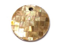 23314 23316 Z23315 23315 Z23314 Z23316 Colgante concha de madreperla disco mosaico marron cobre Innspiro