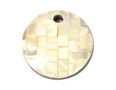 23414 Z23416 23416 Z23415 23415 Z23414 Colgante concha de madreperla disco mosaico marfil Innspiro