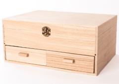 244 Costurero madera de balsa con cajones Innspiro