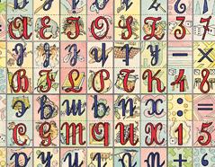 300202 Papel para decoupage alfabeto Innspiro