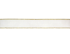 30030 Cinta decorativa blanca ribete dorado Innspiro