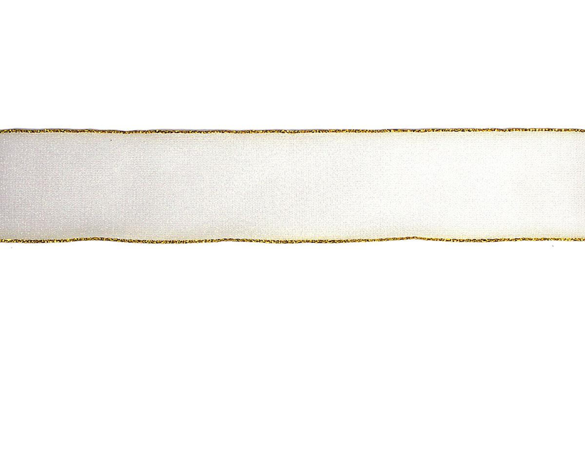30031 Cinta decorativa blanca ribete dorado Innspiro