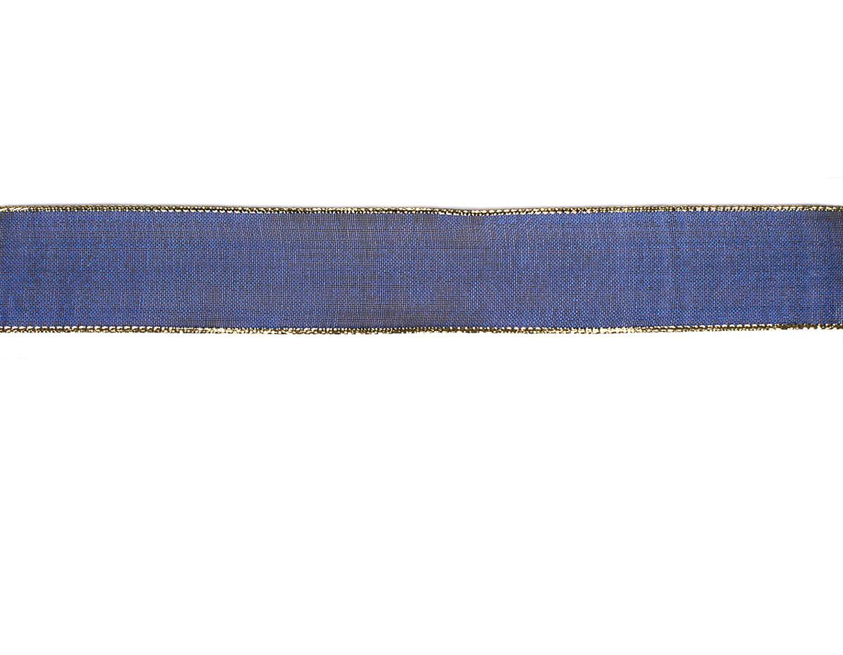 30081 Cinta decorativa malla azul ribete dorado Innspiro
