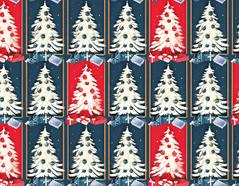 301636 Papel para decoupage arbol navidad rojo azul Innspiro