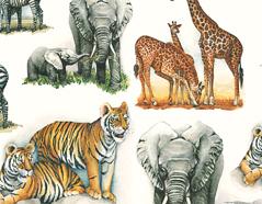 301732 Papel para decoupage animales africanos Innspiro