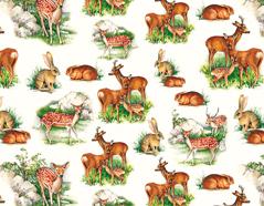301736 Papel para decoupage animales del bosque Innspiro
