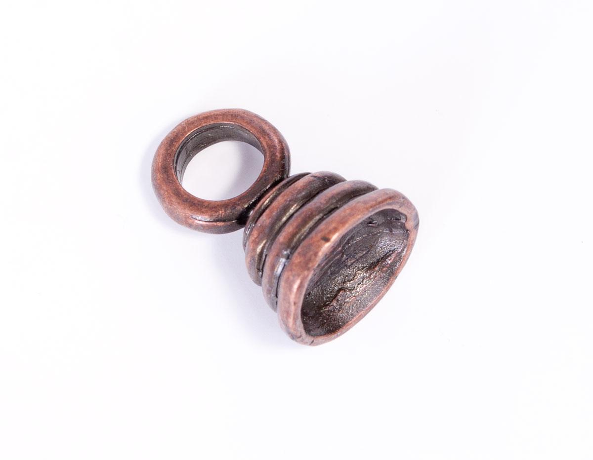 31028 Z31028 Colgante metalico zamak campana cobrizo envejecido Innspiro