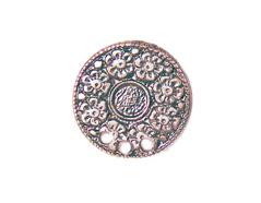Z31044 31044 Pendiente metalico zamak flores cobrizo envejecido Innspiro