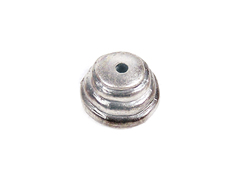 31329 Z31329 Tapa nudos metalico zamak con agujero campana plateado Innspiro