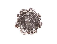 31348 Z31348 Pendiente metalico zamak flor con relieve plateado Innspiro