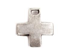 31358 Z31358 Colgante metalico zamak cruz plateado Innspiro