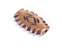 Z31620 31620 Cuenta metalica zamak ovalo dentado dorado envejecido Innspiro