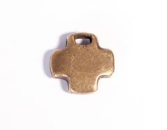 31625 Z31625 Colgante metalico zamak cruz corta dorado envejecido Innspiro - Ítem