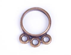 31626 Z31626 Figura montaje metalica zamak colgante con 3 anillas dorada envejecida Innspiro