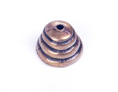 31629 Z31629 Tapa nudos metalico zamak con agujero campana dorado envejecido Innspiro