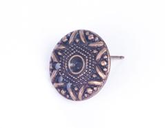 31645 Z31645 Pendiente metalico zamak estrella dorado envejecido Innspiro