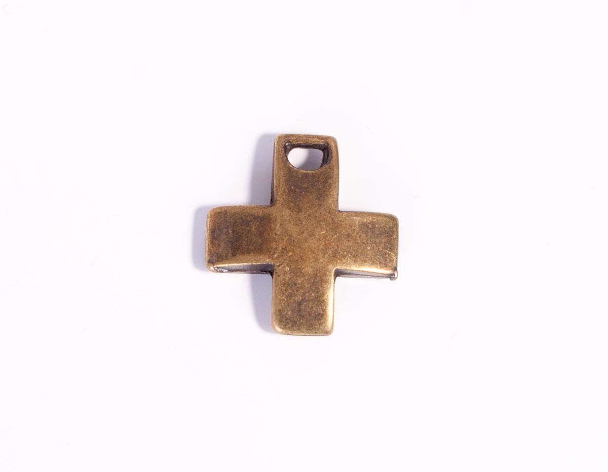 31658 Z31658 Colgante metalico zamak cruz dorado envejecido Innspiro