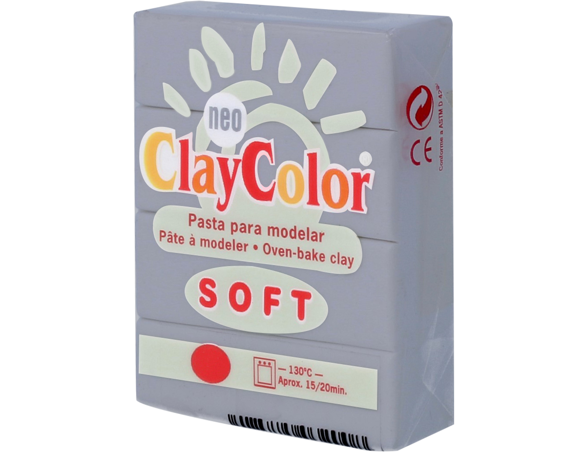 3222 Pasta polimerica soft gris ClayColor