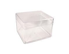 325 Caja plastico rectangular transparente Innspiro - Ítem